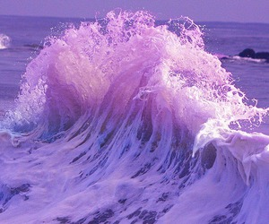 purple, waves, and sea image