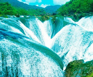 nature, water, and waterfall image