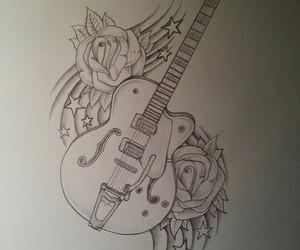art, guitar, and music image