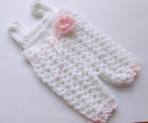 baby, overall, and crochet image