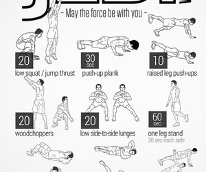 workout, jedi, and fitness image