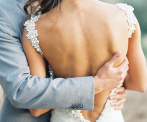 back, bride, and couple image