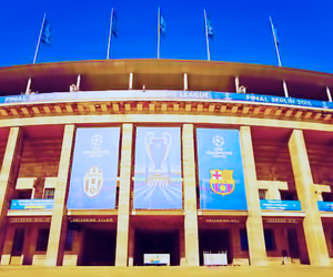 Juventus, fc barcelona, and uefa champions league image