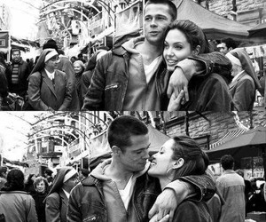 love, brad pitt, and Angelina Jolie image