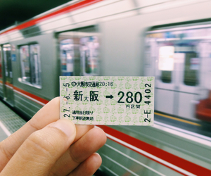 explore, japan, and train image