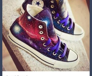 galaxy, shoes, and tumblr image