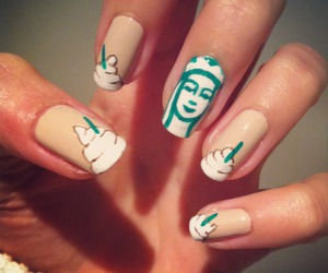 starbucks and starbucks nails image