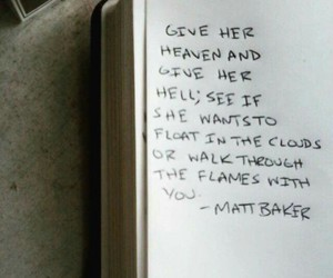 book, flames, and heaven image