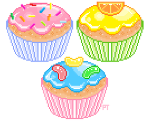 pixel, cupcake, and kawaii image