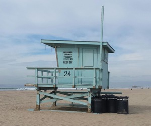 beach, indie, and lifeguard image