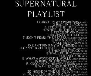 supernatural, playlist, and dean image