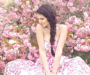 flowers, brunette, and floral image