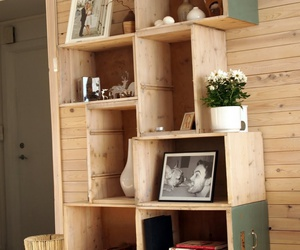 bookcase, diy, and bookshelf image