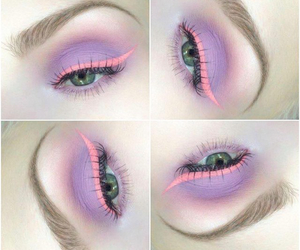 eye shadow, lavender, and make up image