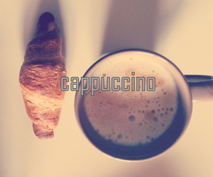 cappuccino and food image