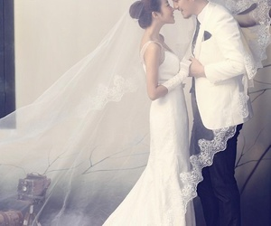 couple, love, and bride image