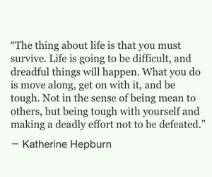difficult, katherine hepburn, and life image