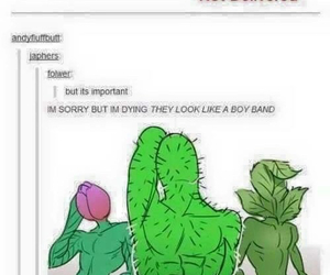 funny, tumblr, and plants image