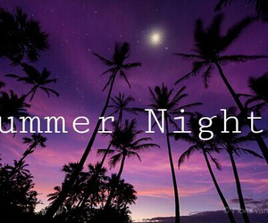 night, summer, and love image