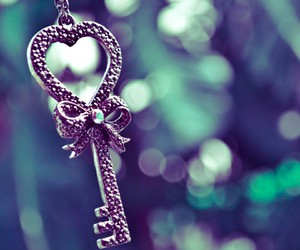 key, love, and heart image