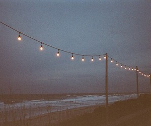 light, beach, and sea image