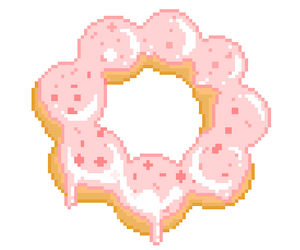 donut, food, and doughnut image