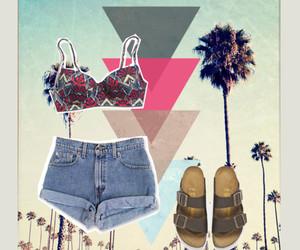 bikini, clothes, and fashion image