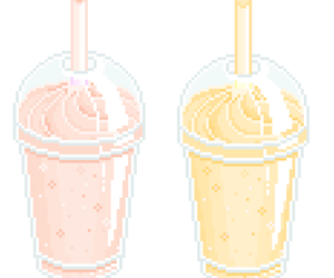 kawaii, milkshake, and pale pink image