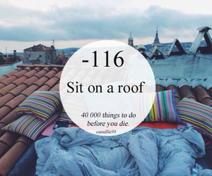 goals, roof, and bucket list image