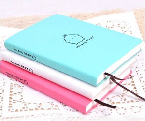 cute, diary, and school image