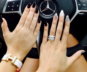 nails, car, and mercedes image