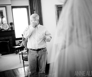 wedding, black and white, and dad image