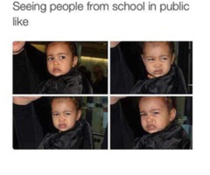 funny, kanye, and north west image