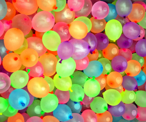 balloons, colors, and water image