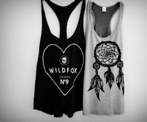 fashion, black and white, and shirt image