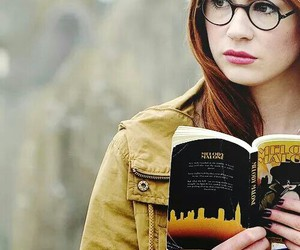 doctor who, amy pond, and glasses image