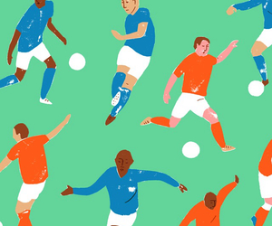 colours, football, and pattern image