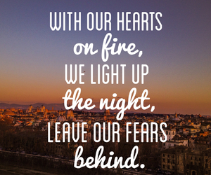 city, fear, and quote image