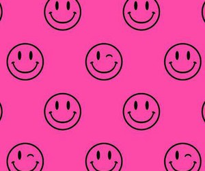 pink, smile, and wallpaper image