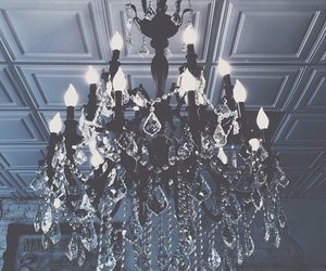 chandelier, decor, and home image