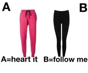 follow me, heart it, and leggings image