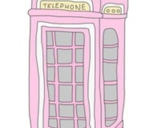 overlay, telephone, and pink image