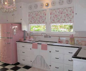 kitchen, pink, and cute image