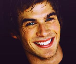 ian somerhalder, smile, and blue eyes image