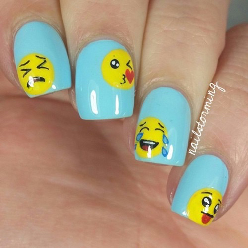 emoticon and nails image