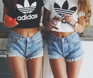 addidas, friends, and bff image