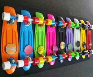 penny, colors, and skate image