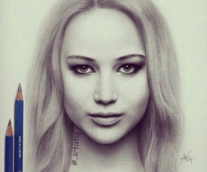 Jennifer Lawrence, drawing, and hunger games image