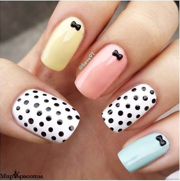 colored, pastel colors, and manicure image