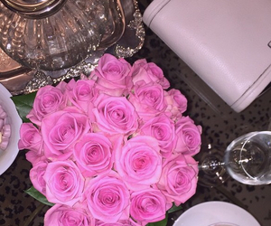flowers, ariana grande, and pink image